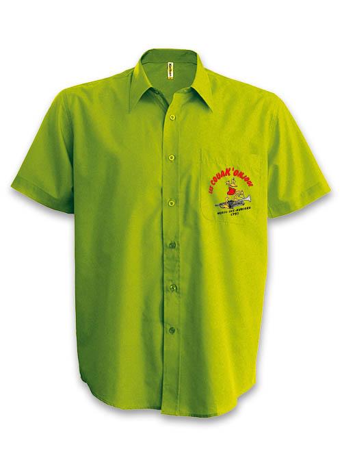 sérigraphie broderie marquage flocage chemise personnalisé