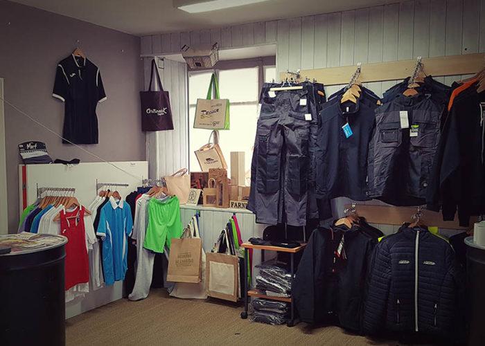 showroom de vêtements et accessoires personnalisables artweark impress