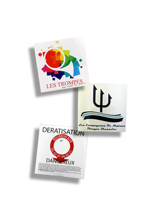 impression personnalisation stickers autocollants publicitaires